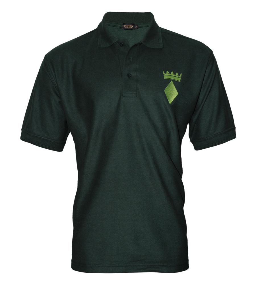 Dark green polo shirt green crown for Dark green mens polo shirt
