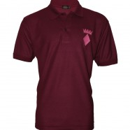 Maroon Polo Shirt Pink Crown