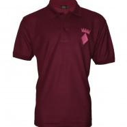 Maroon Polo Shirt Pink Crown