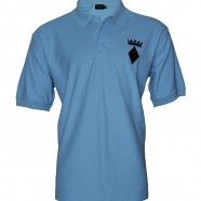 Sky Blue Polo Shirt Black Crown