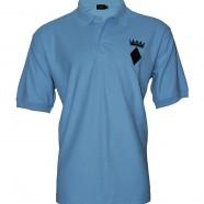 Sky Blue Polo Shirt Black Crown