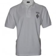 White Polo Shirt Silver Crown